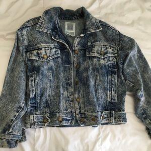 Jackets & Blazers - Thrifted acid wash denim jacket